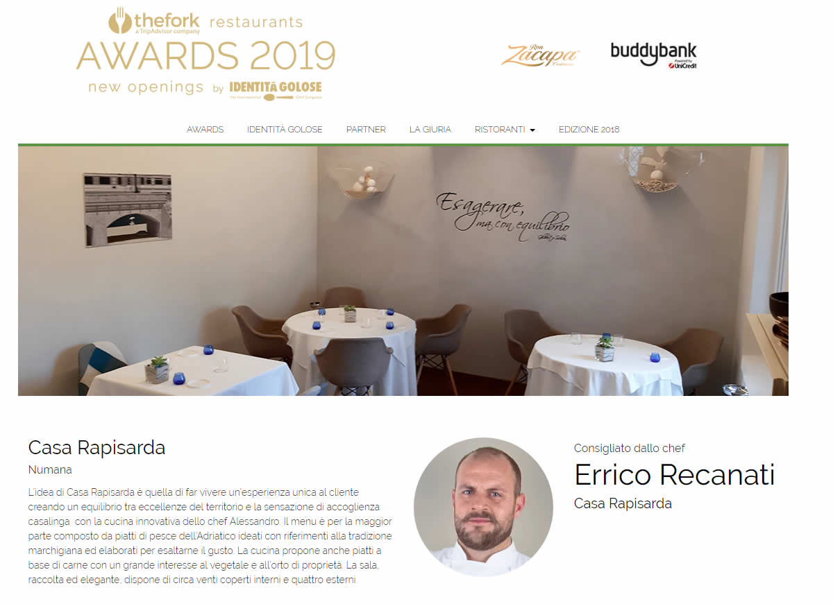 casa rapisarda the fork award
